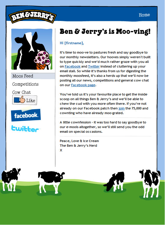 The Ben & Jerry's UK Email which started the Rumours