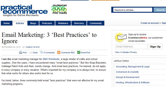 Email Marketing: 3 Best Practices to Ignore