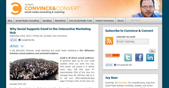 Why Social Supports Email in the Interactive Marketing Hub