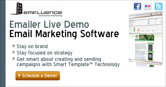 emfluence - Emailer Live Demo. Email Marketing Software
