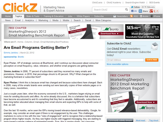 ClickZ - Are Email Programs Getting Better?