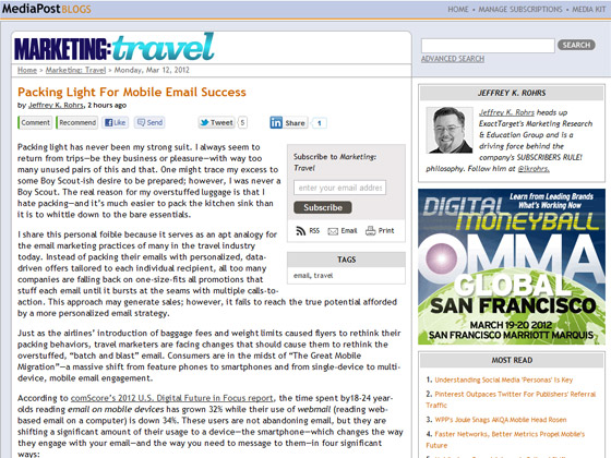 MediaPost - Packing Light For Mobile Email Success