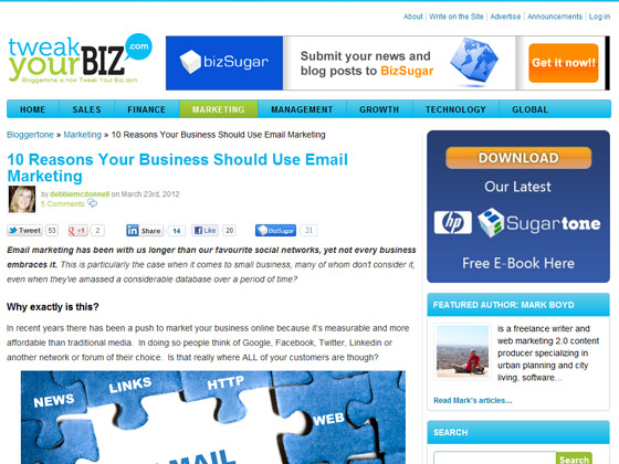 Tweak Your Biz - 10 Reasons Your Business Should Use Email Marketing