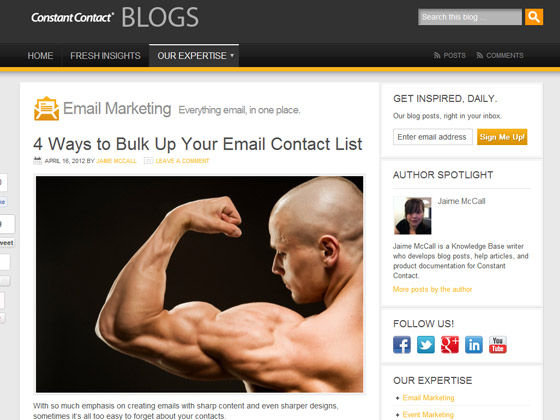 Constant Contact - 4 Ways to Bulk Up Your Email Contact List