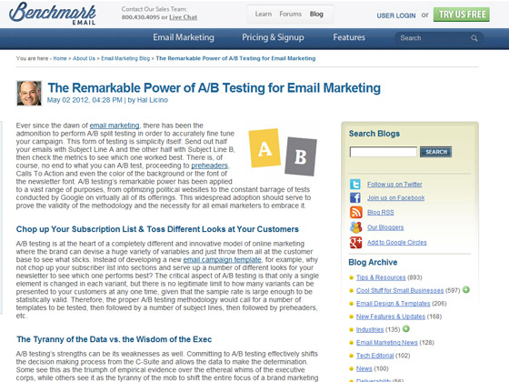 Benchmark Email - The Remarkable Power of A/B Testing for Email Marketing