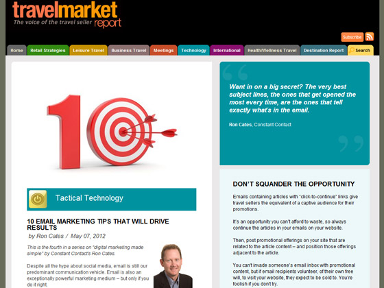 Travel Market Report - 10 email marketing tips that will drive results