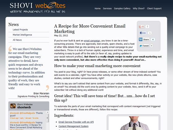 A Recipe for More Convenient Email Marketing