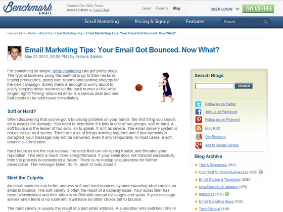 Benchmark Email - Email Marketing Tips: Your Email Got Bounced. Now What?