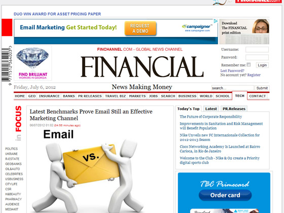 TheFinancial - Latest Benchmarks Prove Email Still an Effective Marketing Channel