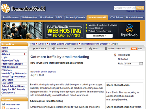 PromotionWorld - Get more traffic by email marketing