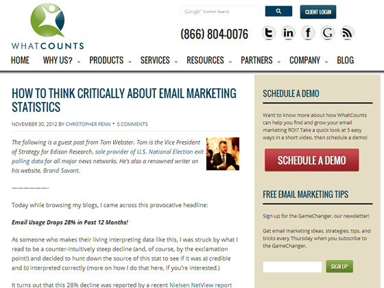 WhatCounts – How To Think Critically About Email Marketing Statistics