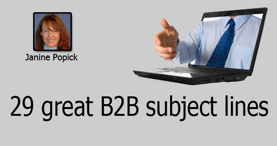 VerticalResponse offers 29 great B2B email marketing subject lines that work