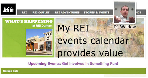 My REI events calendar provides value