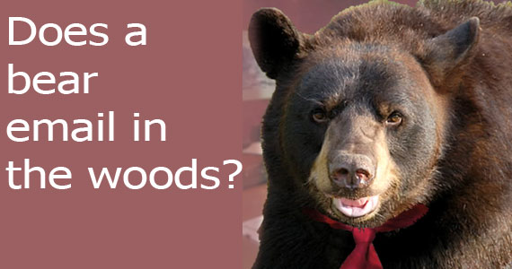 Does a Bear Email in the woods?