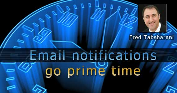 Inbox reserve III:  Email notifications go prime time