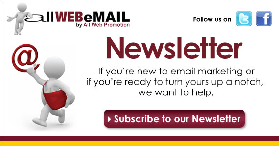 allWEBeMAIL is here to help you win with email marketing! Our email marketing newsletter is packed with helpful email marketing information and tips!