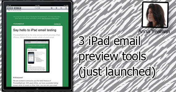 Email marketing 3 ipad email preview tools just launched for Edesign login