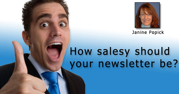 How Salesy Should Your Newsletter Be?