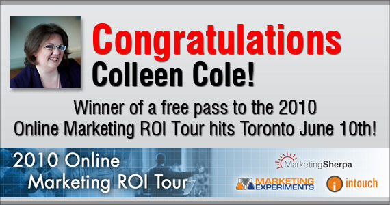 Marketing ROI Tour Winner!