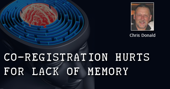 Co-registration Hurts for Lack of Memory