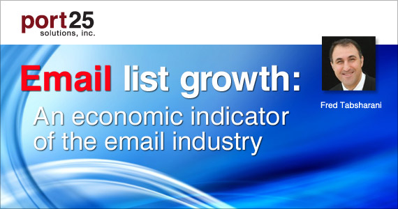 Email list growth: An economic indicator of the email industry