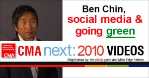 CMA video: Ben Chin, social media & going green