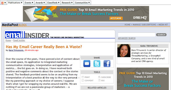 Has My Email Career Really Been A Waste?