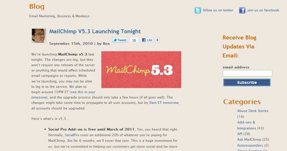 MailChimp Launching v5.3