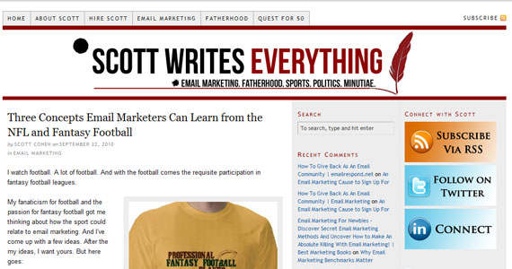 Three Concepts Email Marketers Can Learn from the NFL and Fantasy Football