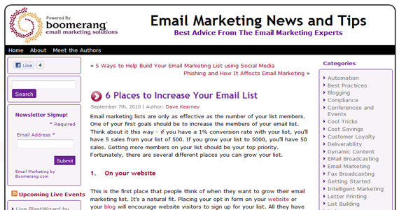 6 Places to Increase Your Email List