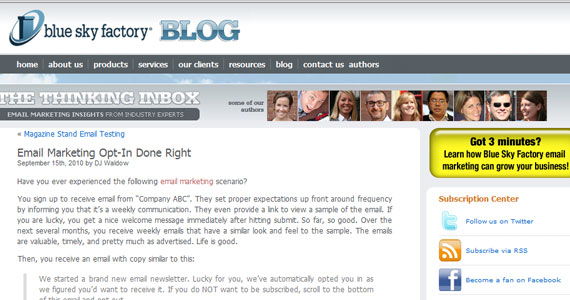 Email Marketing Opt-In Done Right