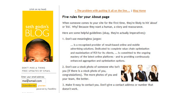 Five rules for your About page