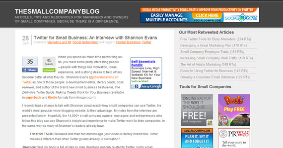 Twitter for Small Business: An Interview with Shannon Evans