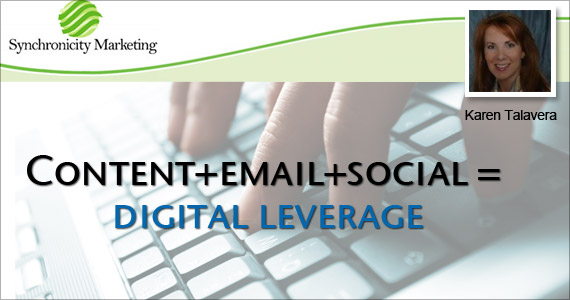 Email Marketing Content+Email+Social = Digital Leverage