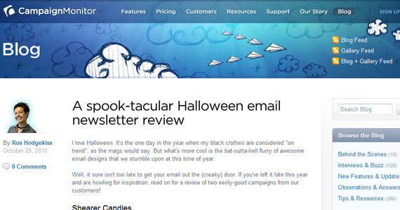 Email Marketing : A spook-tacular Halloween email newsletter review