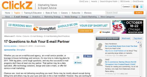 Email Marketing : 17 Questions to Ask Your E-mail Partner