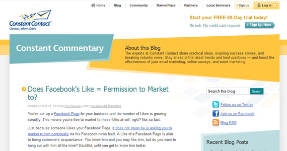 Social Marketing : Does Facebook's Like = Permission to Market to?