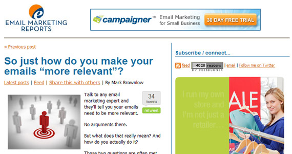 "Email Marketing So just how do you make your emails ""more relevant""?"