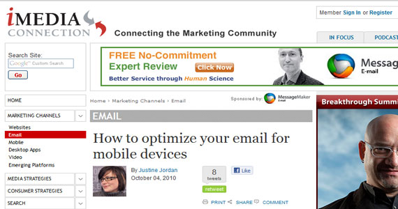 Email Marketing Optimization How to optimize your email for mobile devices
