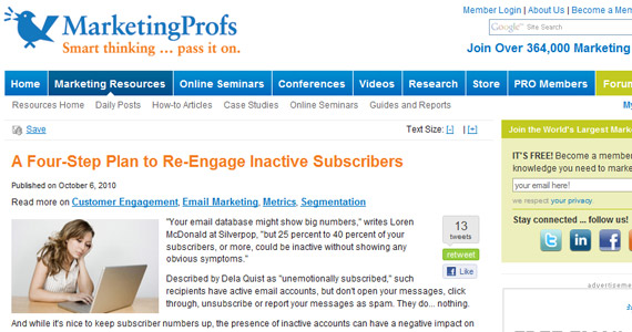 Email Marketing A Four-Step Plan to Re-Engage Inactive Subscribers