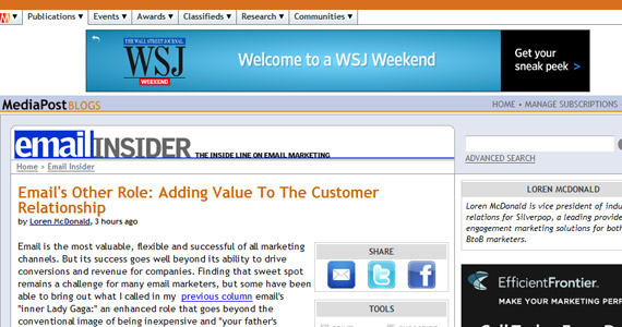 Email Marketing Email's Other Role: Adding Value To The Customer Relationship