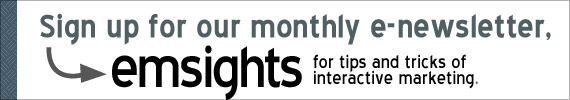 Sign up to our monthly email marketing e-newsletter emsights