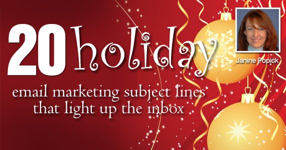 20 holiday email marketing subject lines that light up inbox