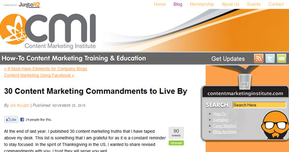 Email Marketing : 30 Content Marketing Commandments to Live By