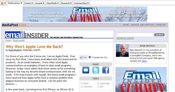 Email Marketing : Why Won't Apple Love Me Back?