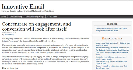 Email Marketing : Concentrate on engagement, and conversion will look after itself