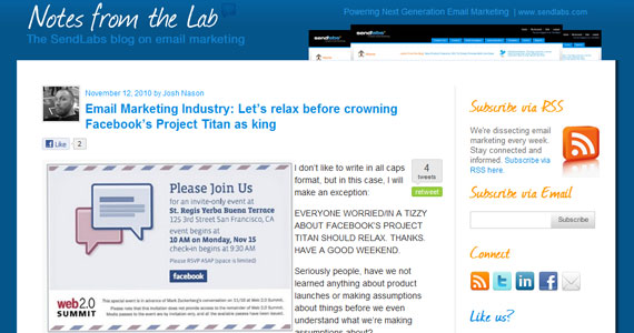 Email Marketing Industry: Let's relax before crowning Facebook's Project Titan as king