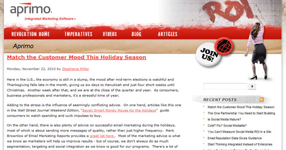 Email marketing : Match the Customer Mood This Holiday Season
