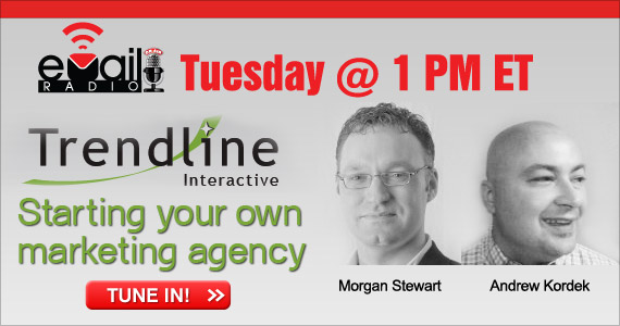 eMail Radio November 30th @ 1PM ET: Starting your own marketing agency