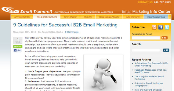 Email Marketing : 9 Guidelines for Successful B2B Email Marketing